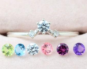 Edge Ring - Silver • Multistone ring