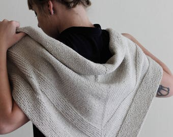 DOVE // Minimalist Wool Shawl