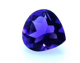 MM 6x6x4 Natural African Purple Amethyst Gemstone Heart Cut Amethyst Faceted,Carat 0.70 PCT 2110