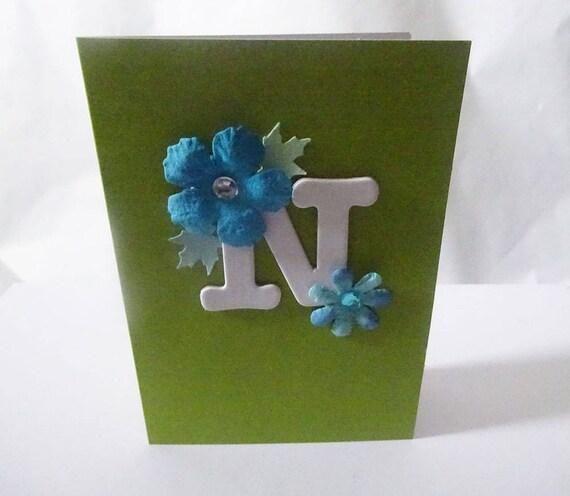 "Monogram/Initial Card - Letter ""N"""