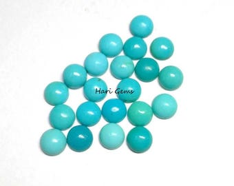 10 Pieces 5mm Turquoise Cabochon Round Gemstone AAA Quality 100% Natural Arizona sleeping beauty Turquoise Round Cabochon Turquoise Cabochon