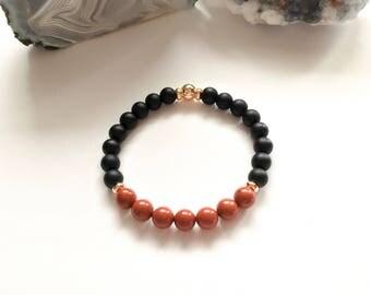 Red jasper bracelet for men's.