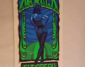 Jeff wood nebula concert poster