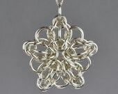 Celtic Star Chainmail Pendant - Large