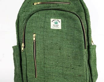 Full Size Hemp Boho Backpack - Made in The Himalayas - FREE SHIPPING