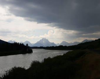 A storm at the Tetons
