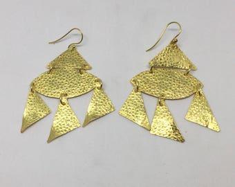 Vermeil sterling silver earring