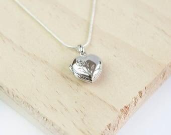 Penn Heart Locket, Sterling Silver, Heart Locket, Silver Locket, Opening Locket, Working Locket, Heart Pendant, Heart Necklace