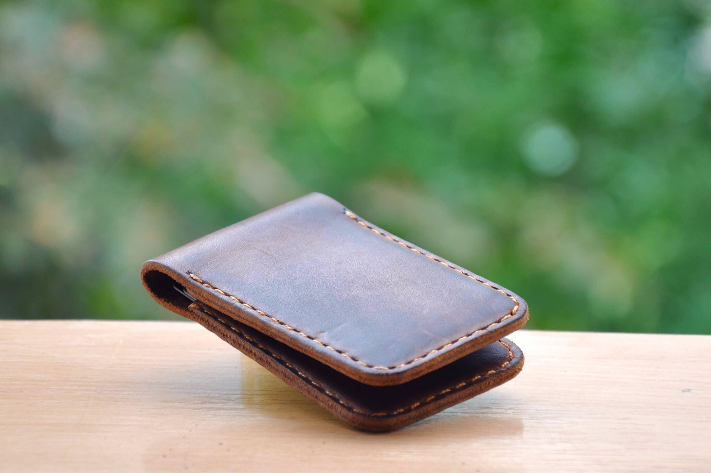 Vintage Leather business card holder Credit bank card holder