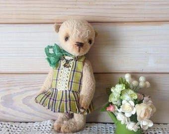 Stuffed bear Plush bear Miniature bear Small teddy Pocket teddy Teddy bear Teddy gift Teddy handmade Teddy