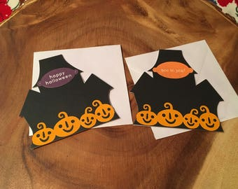Haunted house gift tags