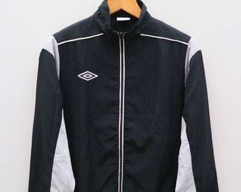 Vintage UMBRO Small Logo Sportswear Black Windbreaker Jacket Size S