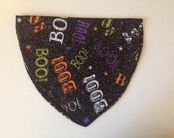"""Halloween """"Boo!"""" Doggie Bandana"""