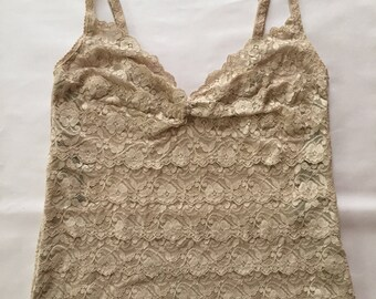 nude lace baby doll top | cascade scalloped florallace cropped top