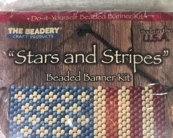 Banner kit etsy the beadery beaded banner kit stars and stripes 5182 bead crafting solutioingenieria Image collections