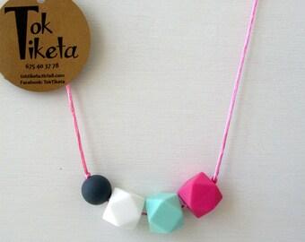 Breastfeeding or teething necklace. Teething necklace. Silicone Bead Teething Jewellery. MOD.3
