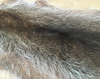 Shaved and dyed beaver hide from Canada
