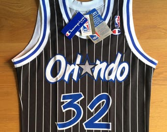 NEW Shaquille O'Neal Orlando Magic vintage 90s NBA Champion Jersey, sz L, S, XS, unworn with tags.