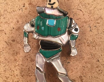 Vintage Zuni Inlay Buzz Lightyear Pin Pendant by Andrea Lonjose
