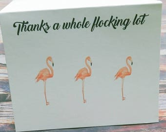 Funny greeting cards , funny thank you card , thank you cards  , flamingo card , blank note card , wedding thank you cards, gratitude card