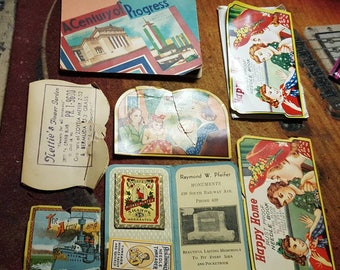 Lot Of Antique Needle Books Nice Variety of Cover Art & Content Sewing Collectibles