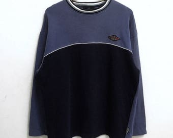 RARE!!! Bear Small Logo Embroidery Crew Neck Raglan Colour Sweatshirts Hip Hop Swag L Size