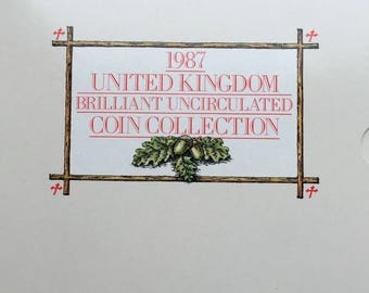 1987 Brilliant Uncirculated Coin Year Set Collection - Royal Mint