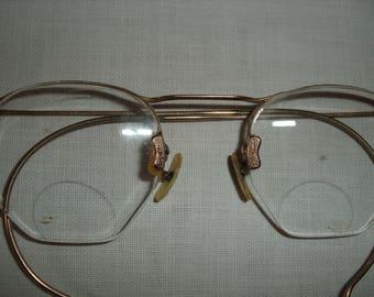 Antique Wire Rim Eyeglasses.  Vintage Wire Rim Bifocal Eyeglasses.  Men's Wire Rim Glasses