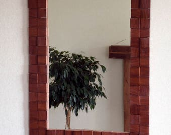 Mirror, Wall decor, Reclaimed wood mosaic frame