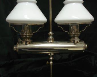 Double Spencer kerosene lamp