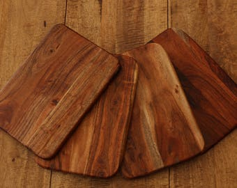 Solid Acacia Wood Board Placemat Chopping Board Food Tray Server 24cm x 35cm x 1cm ACA-PMATS