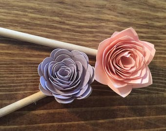 Flower Cupcake Toppers, Cupcake Toppers, Baby Shower Toppers
