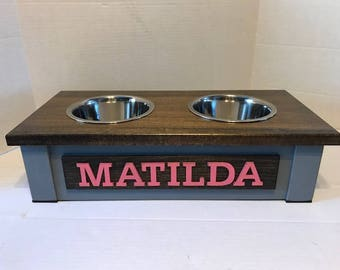 Small Dog Dish Stand, Personalized Dog Bowl,Dog Bowl Stand,Dog Bowl, Raised Dog Feeder,Elevated Dog Feeder, Dog Bowl Holder, Feeding Station