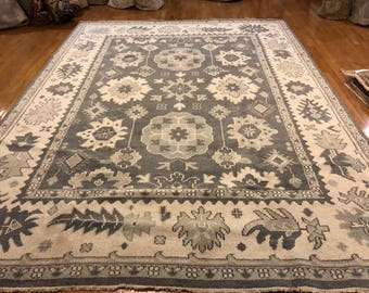 Oriental rug Oushak 9 x 12 hand knotted wool