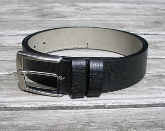embossed leather belt, leather belt for men, mens black leather belt, wide belt, jeans belt, black belt, waist belt, casual leather belt