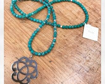 Serenity in natural gemstones necklace