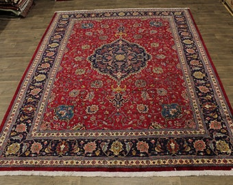 Breathtaking Hand Knotted Signed Tabriz Persian Rug Oriental Area Carpet 10X13