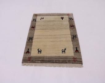Great Shape Handmade Modern Tribal Gabbeh Persian Rug Oriental Area Carpet 3X4