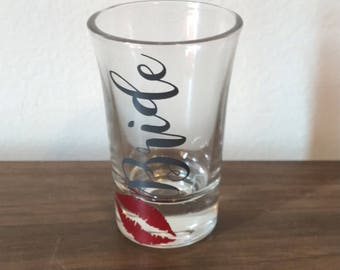 Wedding shot glasses - party favors - wedding party favors - shot glasses - bachelorette shot glasses - party glasses
