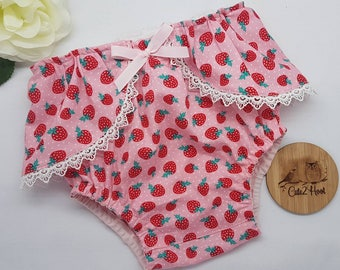 Nappy cover, nappy skirt,  strawberry,  baby pants
