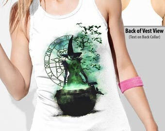 OZ : Elphaba Wicked Witch of the West Women's White Vest Top
