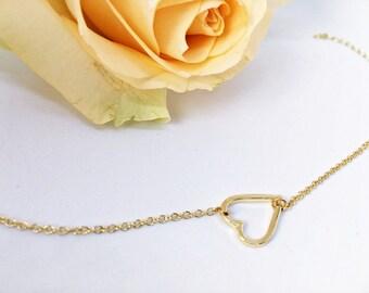 5 x heart bracelet in GOLD: pendant as a gift