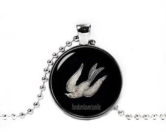 Bioshock Necklace Bioshock Infinite Bird Pendant Gamer Jewelry Fandom Jewelry