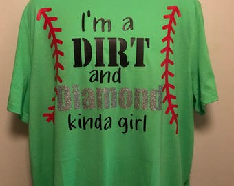 Dirt and Diamonds Shirt, ladies, sm-2X, customized