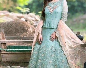 Pakistani wear/Readymade stitched/ Navaratri Chaniya choli /Lehenga choli/ Party wear/ Indian wear/ wedding wear/Evening wear/ size 40-42