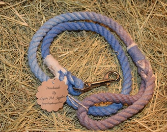 Blue and Gray Rope Leash