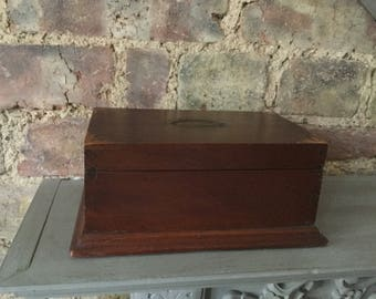 Vintage Wooden Antique Edwardian Trinket  Box or Jewellery Box for the Dressing Table. Present for Mother's Day