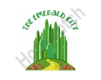 The Emerald City - Machine Embroidery Design