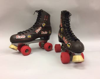 Vintage Rolo Roller Skates | Hand Painted | 1970s 1980s | Size 11 Womens Mens 9 | Kitsch | Novelty