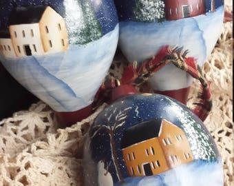 Christmas Ornaments, Christmas Tree Ornaments, Christmas Decorations, Tree Decorations, Painted Ornaments, Wood Ornaments, Rustic Ornaments